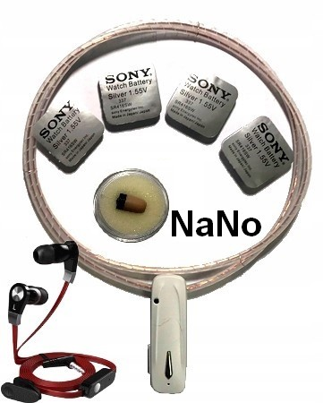 Mikro słuchawka NaNo z bluetooth.