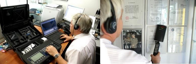 wykrywanie podsłuchu, podsłuchów